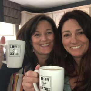 Lori and Megan on a coffee date