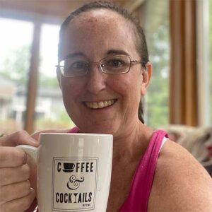 And, of course, MC starts her day with coffee in her favorite mug!