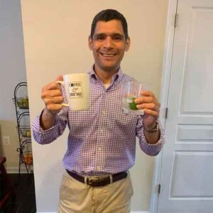 Pablo with his coffee mug
